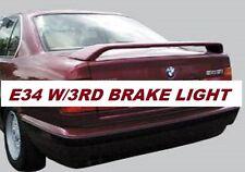 UNPAINTED-PRIMER REAR SPOILER FOR 1989-1996 BMW 2-POST E34 5 SERIES W/3RD LIGHT