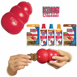 KONG Classic Dog Toy - Robust Red Rubber Dog Teething Toy XS S M L XL - Offic...