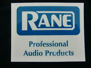 RANE PRO AUDIO PRODUCT DJ MIXER TURNTABLE DECAL STICKER CASE RACK BUMPER STICKER