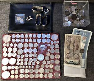 Alte Münzsammlung / Münzen Konvolut aus Nachlass / mit Silber / Erbe an Sammler