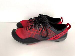 Merrell Crimson Vibram Running Shoes - Men's Size 10 Red Black EUC