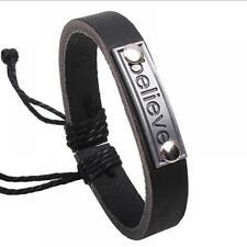 Lover Valentine Gift Men's Handmade Leather Couple Bracelet