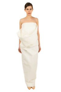 RRP €1420 RICK OWENS DIRT Maxi Dress Size 44 / L Draped Bandeau Made in Italy