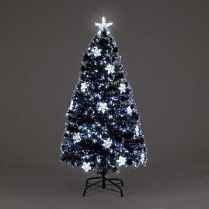 Fibre Optic Night Star Christmas Tree With LED Stars