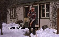 KODACHROME 35mm Slide Handsome Man Shoveling Snow House Sidewalk Fashion 1964!!!