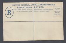 More details for british central africa postal stationery registered letter two pence ultramarine
