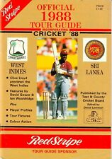 England v West Indies & Sri Lanka - tour guide 1988