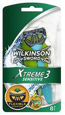 WILKINSON SWORD XTREME 3 COMFORT PLUS SENSITIVE DISPOSABLE RAZORS - 8 PACK