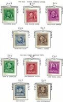 Scott 859-893 1940 Famous Americans Series Set of 35 stamps MNH