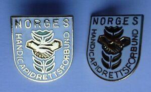 Norway Handicap / Disabled sport Federation 2 different pin badge abzeichen