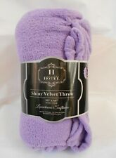 Hotel Collection Shiny Velvet Throw Light Purple 50 X 60 Super Soft