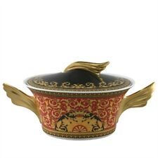 Versace Medusa Red Vegetable Bowl Covered 54 Ounce NEW