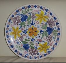 """Vintage Ceramic Wall Plate El Puente Del Arzobispo, Toledo Spain 12 1/8"""""""