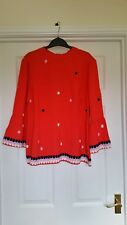 BODEN  NWT Armelle Top - Red - UK 14 - 2018