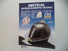 advertising Pubblicità 1987 CASCO HELMET FM MISTRAL
