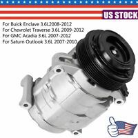 AC Compressor for Buick Enclave/Chevrolet Traverse/GMC Acadia/Saturn Outlook 3.6