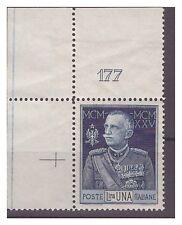REGNO 1925  - GIUBILEO DEL RE - LIRE 1  dent. 13  NUOVO  **  NUMERO  DI TAVOLA