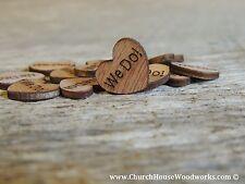 100 wooden We Do hearts rustic wedding, venue decor, confetti, invitations USA