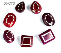 Ruby Loose Gemstone Lot Natural Top Quality Mix Shape African Pigeon Blood Red