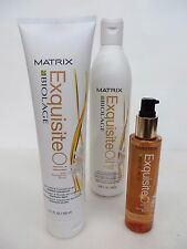MATRIX BIOLAGE EXQUISITE OIL SHAMPOO & CONDITIONER & REPLENISHING TREATMENT