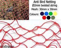 Filet de 30x30x2mm Twisted ficelle anti oiseau culture plantes jardin légumes