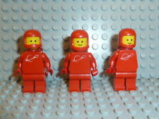 LEGO® Space Classic 3x Figur Astronaut rot mit Airtank 1968 918 6930 6929 F692