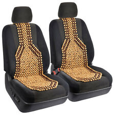 Wooden Beaded Car Seat Cushion Comfortable Massage Chair Support Truck SUV- 2PC