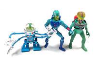 3 VTG Mars Attacks Figures Martian Leader Trooper Doom Robot 1996 Trendmaster