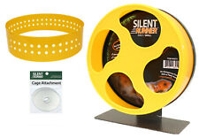 """Silent Runner Wheel 9"""" + Autoclean Track + Cage Attachment - Exercise Wheel Set"""