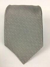 NEW Oxxford Clothes Handmade USA Silk Silver Woven Tie