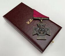 More details for british victoria cross v.c. bronze gallantry award medal with presentation case