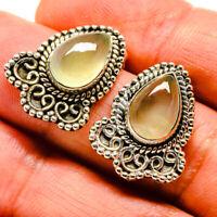 "Prehnite 925 Sterling Silver Earrings 1"" Ana Co Jewelry E414620F"