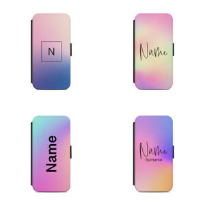 Personalised name initial Gradient L20 Flip Wallet phone case cover Galaxy S20