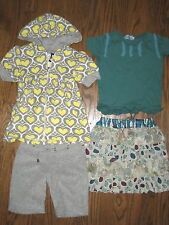 Girls huge lot sets outfits skirt tops Flowers by Zoe Purepensee 4-5 shorts