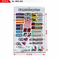 Moto Sticker Kit Vinyl Decal for Car Bicycle Sportbike MX Bike Exhaust Motocross