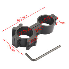 Figure 8 Scope Mount. Use With a Laser, Torch, etc. 25/25 +20mm Weaver
