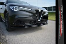 CUP Spoilerlippe für Alfa Romeo Stelvio Front Schwert Ansatz Lippe Version 2