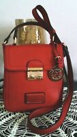 "Women's Adorable Small Red ""Christian Lacroix"" Designer Cross Body Bag Purse"