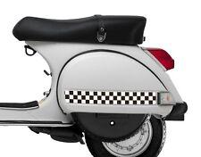 Check Stripe Sticker Set Fits Vespa PX T5 LML  - Black & White Ska Checkers