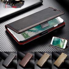 Leder Handy Tasche iPhone Samsung Flip Cover Case Schutzhülle Etui Schale Wallet