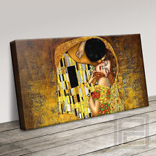 Gustav KLIMT IL BACIO splendida tela iconica ART PRINT Picture (S) ART Williams