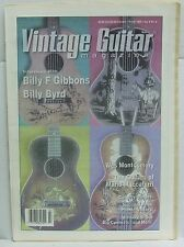 Vintage Guitar Magazine Billy Gibbons Byrd Wes Montgomery Mario Maccaferri RARE!