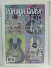 Vintage Guitar Magazine Billy Gibbons Byrd Wes Montgomery Mario Maccaferri RARE!