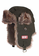 Japanese Style Trapper Hat - Faux Fur Bomber Russian Hat Ushanka Aviator Japan