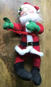 "Vintage Annalee Doll / 1981 / Santa Claus w/Bow 19"" //EUC//"