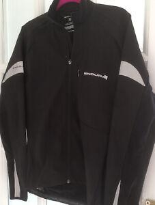 Mens Endura Cycling Softshell Jacket - Black/Reflective, Light Weight,Size Small