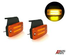 2x Amber Led Neon Side Marker Lights 12-24v Lamp Truck Trailer Lorry Chassis Bus