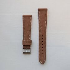 20mm Brown Textured Leather Watch Strap