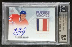 2011-12 SP Authentic Future Watch Limited Auto Patch Brendon Nash /100 3 COLOR