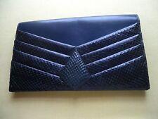 Vtg Original Cuprice Envelope Clutch Shoulder Handbag 100% Leather W/Snakeskin